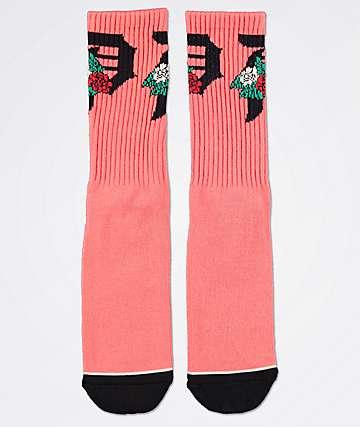 Primitive Dos Flores calcetines rosas