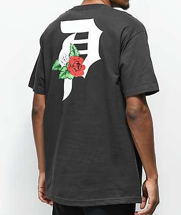 Primitive Dos Flores camiseta negra