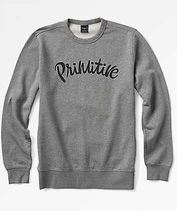 Primitive Dusty Grey Crewneck Sweatshirt