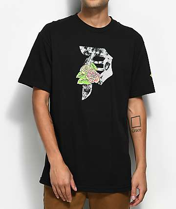 Primitive Floral Black T-Shirt