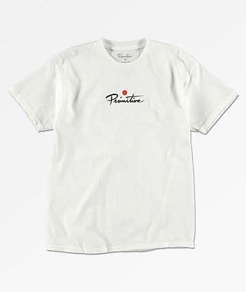 Primitive Geisha PJ camiseta blanca de para niños