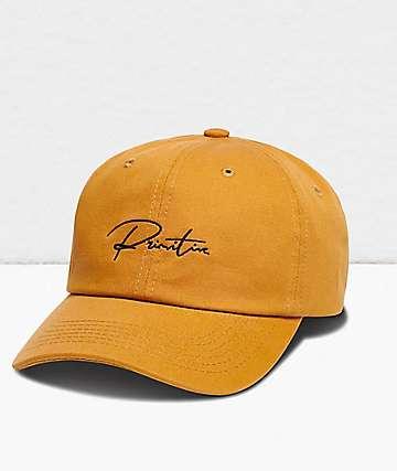 Primitive Ginza Script Gold Strapback Hat