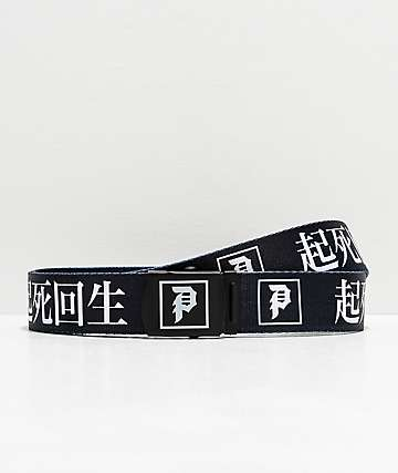 Primitive Ginza cinturón tejido negro