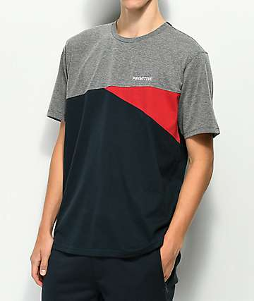 Primitive Greyson Grey, Red & Navy T-Shirt