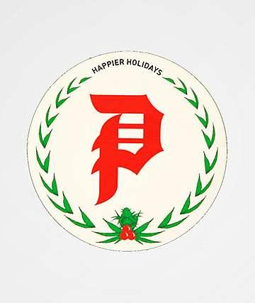 Primitive Happier Holidays Sticker