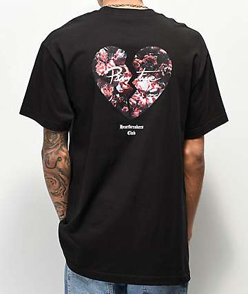 4aece4da Primitive Heartbreakers Broken Heart Black T-Shirt