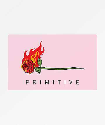 Primitive Heartbreakers Burning Sticker