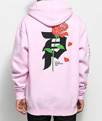 Primitive Heartbreakers Pink Hoodie