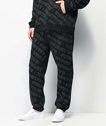Primitive High Viz Black Sweatpants