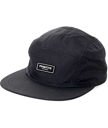 Primitive Honeycomb Black 5 Panel Hat