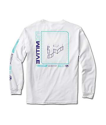 Primitive Horizon White Long Sleeve T-Shirt