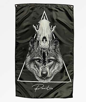 Primitive Hunter Black Banner