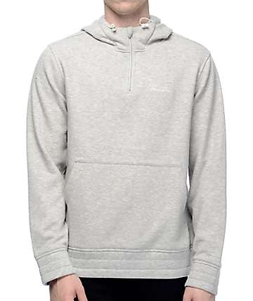 Primitive Iceberg Quarter Zip Heather Grey Hoodie