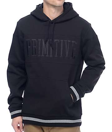 Primitive League Piped Black Pullover Hoodie
