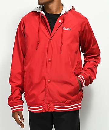 Primitive Lightweight 2Fer Red Varsity Jacket