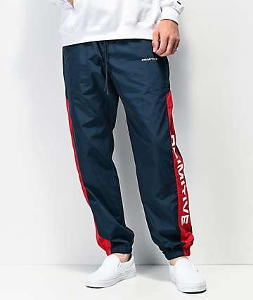 Primitive Macba Navy & Red Track Pants