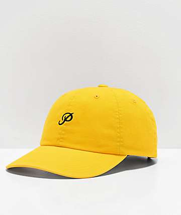 85b4a81f36fa2 Primitive Mini Classic P Yellow Dad Hat