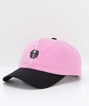 Primitive Moods Rose Pink Strapback Hat
