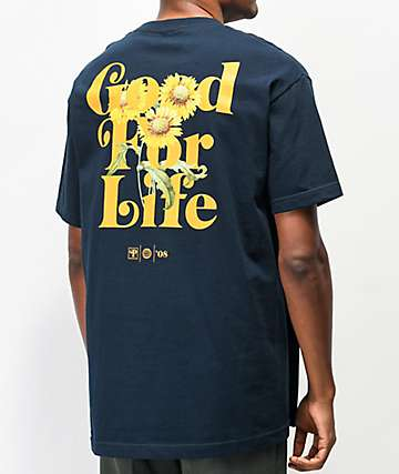 Primitive Natural Sunflower Navy T-Shirt