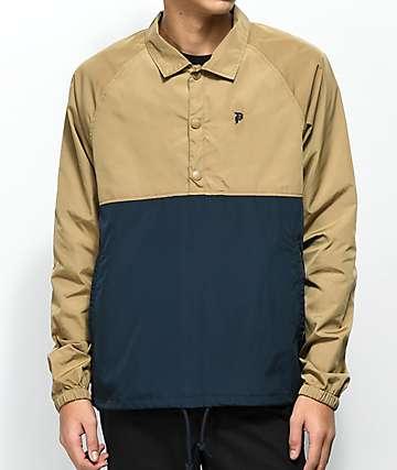 Primitive Navy & Camel Anorak Coaches Jacket