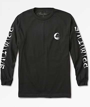 Primitive Night Owl Black Long Sleeve T-Shirt