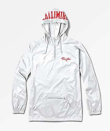 Primitive Nuevo Collegiate White Anorak Jacket