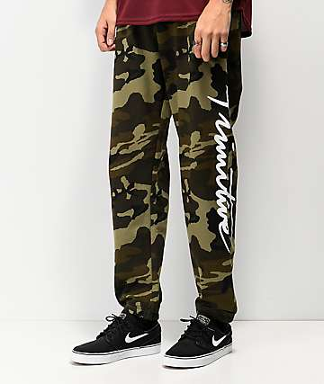 Primitive Nuevo Green Camo Fleece Sweatpants