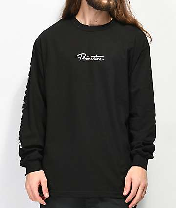 Primitive Nuevo Holographic Black Long Sleeve T-Shirt