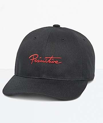 Primitive Nuevo Script Black Dad Hat