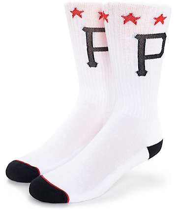 Primitive P Stars White Crew Socks