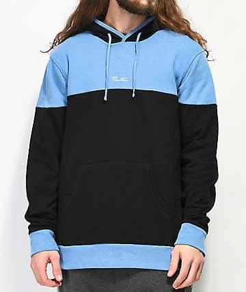 Primitive Pacer sudadera con capucha negra y azul