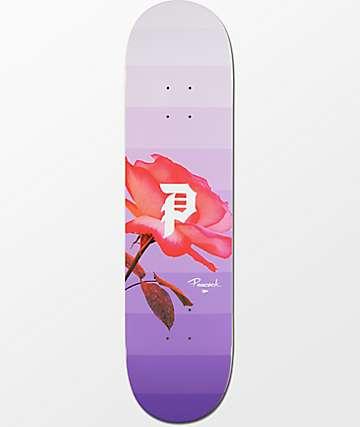 "Primitive Peacock Rose Out 8.0"" tabla de skate"
