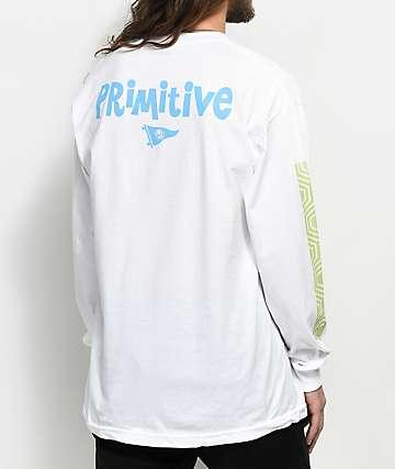 Primitive Pendleton Zoo White Long Sleeve T-Shirt