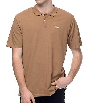 Primitive Pennant Khaki Pique Polo Shirt