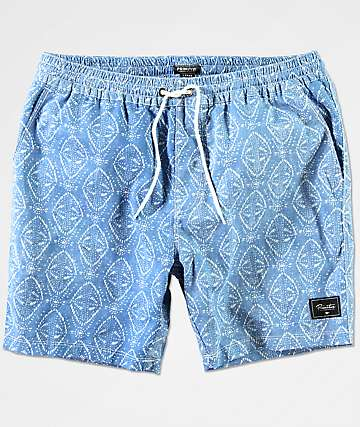 Primitive Pool Party Blue & White Shorts