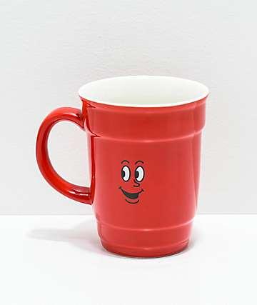 Primitive Red Cup taza de café de cerámica