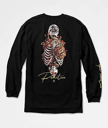 Primitive Rise Long Sleeve Black T-Shirt