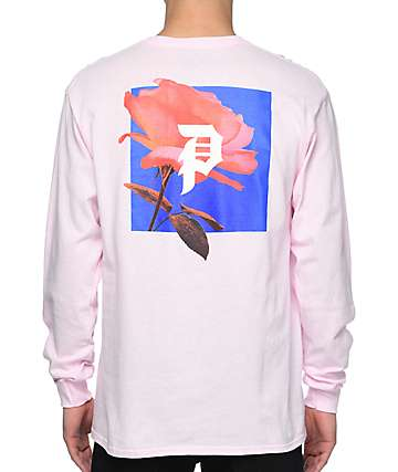 Primitive Rose Out Pink Long Sleeve T-Shirt