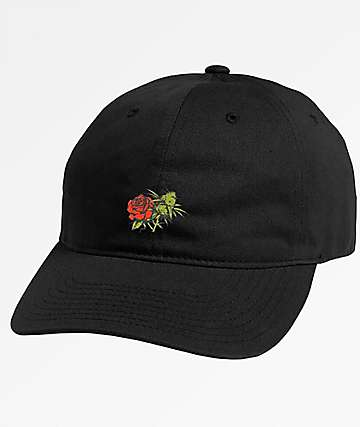 Primitive Rosebud Black Dad Hat