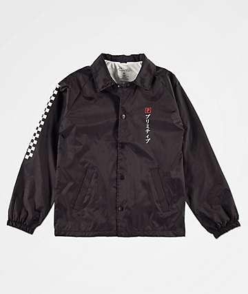 Primitive Samurai Paul chaqueta entrenador negra para niños