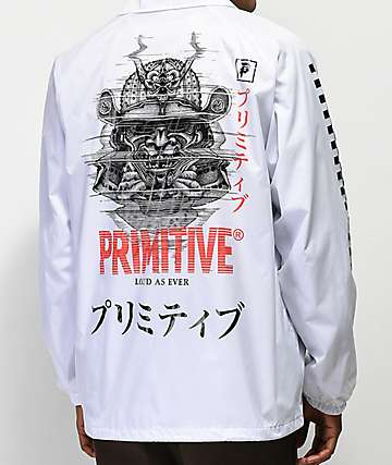 Primitive Samurai White Coaches Jacket