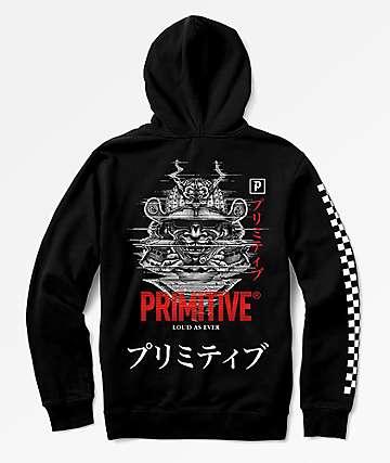 Primitive Samurai sudadera con capucha negra