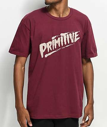 Primitive Slasher Burgundy T-Shirt