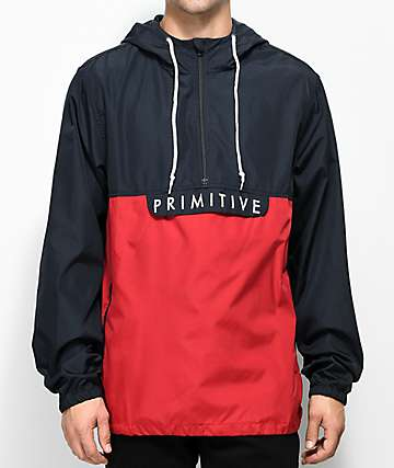 Primitive Staten Navy & Red Anorak Jacket