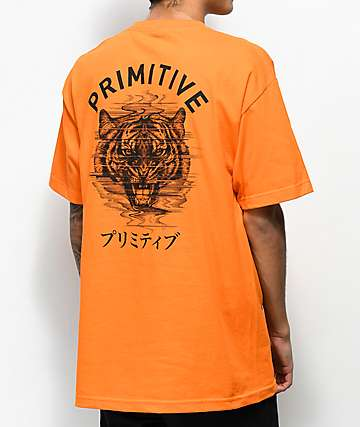 Primitive Tiger PJ Orange T-Shirt