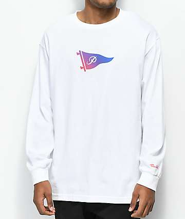 Primitive Tone Pennant White Long Sleeve T-Shirt