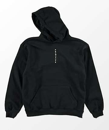Primitive Trop sudadera negra con capucha para niños