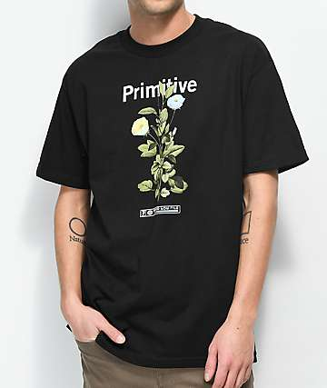 Primitive Tulip Black T-Shirt