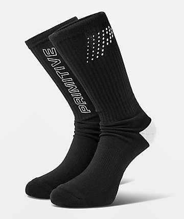 Primitive VHS Black Crew Socks