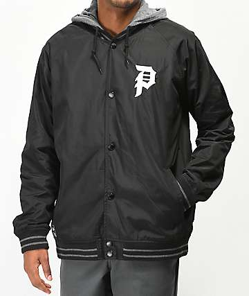 Primitive Varsity 2Fer Black & Grey Jacket
